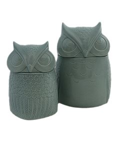 Bienna Owl Canister Set by The Import Collection #zulily #zulilyfinds