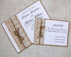 Handmade Rustic Lace and Burlap Wedding by LoveofCreating on Etsy, $100.00