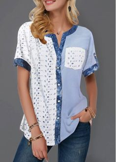 Stylish Tops For Girls, Trendy Tops, Trendy Fashion Tops, Trendy Tops For Women Ropa Upcycling, Sheer White Shirt, Trendy Tops For Women, Stylish Tops, Beige Pants, Red Jeans, Women's Dresses, Party Dresses, Fashion Dresses