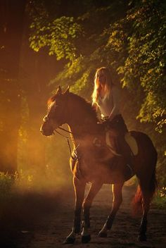 .... Into the night (I don't ride horses but this looks fun, pretty pic)