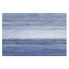 Featuring an abstract work of art that evokes the sea, the Barry Canvas Wall Art by Parvez Taj is a striking work of art. In soothing lavenders and greys, this modern piece is ready to hang and enhance any room of your home.