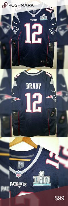 d38bf3794 NFL Patriots Tom Brady Super Bowl Jersey Sz Large NIKE NFL SUPER BOWL LII  NEW ENGLAND PATRIOTS TOM BRADY  12 OFFICIAL NFL NIKE JERSEY WITH SUPER BOWL  LII 52 ...