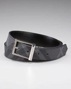 N0NSQ Burberry Reversible Check Belt