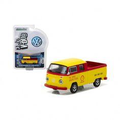 1976 Volkswagen Type 2 Crew Cab Pickup Shell Oil Diecast Model by Greenlight Volkswagen Westfalia Campers, Volkswagen Type 2, Diecast Models, Shell, Oil, Conch, Butter, Bookshelves, Seashells
