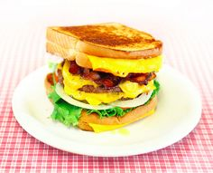 Double Bacon Cheeseburger with Grilled Cheese Buns | The 23 Most Perfect Foods In The Universe