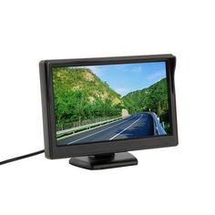 "5"" 800*480 (no 320*240) Car TFT LCD Monitor Screen 2ch Video Monitor Car for TV"