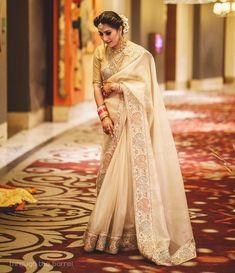 Sabyasachi Bridal Lehenga White Indian Weddings New Ideas Royal Indian Wedding, Indian Bridal, Indian Weddings, White Saree Wedding, Lehenga White, Gold Lehenga, Yellow Saree, Sabyasachi Bridal Collection, Lehenga Collection