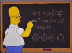 The formula written on Homer's blackboard above is said to correctly predict the mass of the Higgs boson