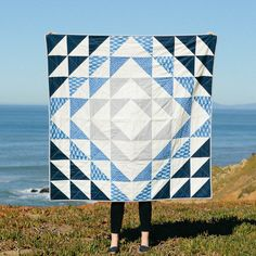 Atlantic Quilt Pattern + Tutorial PDF — Vacilando Quilting Co. - The Atlantic Quilt Pattern + Tutorial PDF by Vacilando Quilting Co. The perfect Quilting 101 for be - History Of Quilting, Quilting 101, Patchwork Quilting, Quilting Projects, Scraps Quilt, Patchwork Ideas, Patchwork Designs, Quilting Fabric, Quilting Ideas