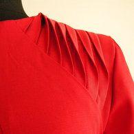 Shoulder pleats