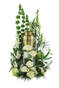 Floral Design Ideas flower arrangement ideas screenshot Sympathy Urn Arrangement