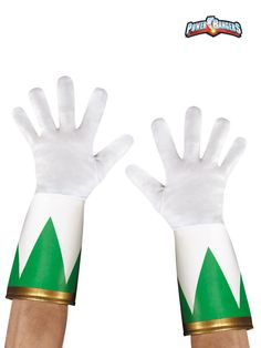 Check out Power Ranger's Green Ranger Gloves - Superheroes Accessories & Makeup from Costume Super Center