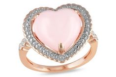 2 1/3 Carat Pink Opal and Diamond Ring (love the style but would prefer white gold and a white opal)