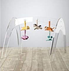 Wee Workout Acrylic Baby Gym - love this modern, beautiful design - you'll love having this in your living room!