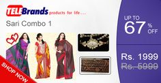 Telebrands brings to you the ultimate irresistible combo offer of three superior quality Georgette saris + Designer leather clutch and a trendy Jewelry watch to go along with your saris. Limited stocks.. Hurry Order Today!!! You Get: 3 trendy Georgette Saris One Designer Leather Clutch One Fashionable Jewelry Watch