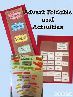 Adverb Foldable and Activities- a great resource for teaching about adverbs!