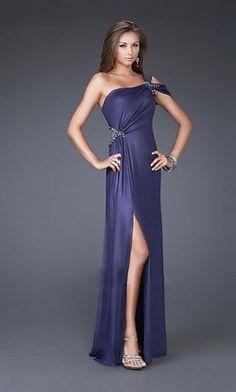 Long One Shoulder La Femme Dress,Sexy Evening Dresses
