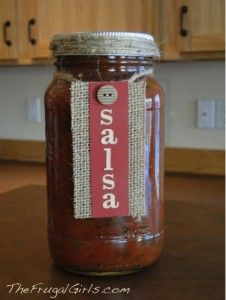 Easy Homemade Salsa Recipe! ~ from TheFrugalGirls.com #salsa #recipes #masonjars