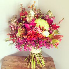 Rustic wedding bouquet for Spring! | Ginger Lily & Rose Floral Studio | Sunshine Coast Wedding Florist