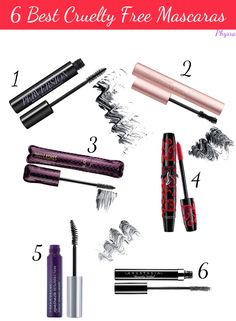 NEW! 6 Best Cruelty Free Mascaras: Phyrra Beauty for the Bold! #1 and #6 are on my best list too actually, Urban Decay Perversion and Urbadn Decay Mascara Resurrection!