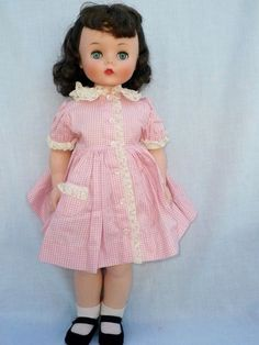 "Vintage 1950's Madame Alexander 20"" Kelly Doll Brunette All Original Near Mint"