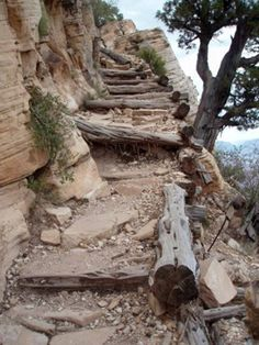 Original infrastructure from the steep Grandview Trail in Grand Canyon National Park, Arizona, USA Amazing construction. #hiking #arizonaguide #arizona