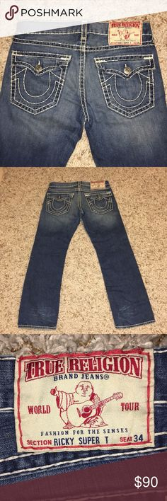 Men's true religion jeans Pre owned original True Religion size 34 men's jeans True Religion Jeans Straight
