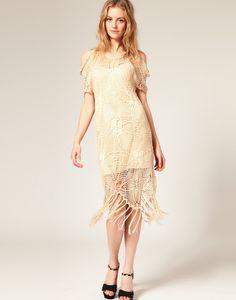 #crochet #dress with #fringe