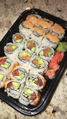 Think Food, I Love Food, Good Food, Yummy Food, Sushi Recipes, Healthy Recipes, Food Vids, Snap Food, Food Snapchat