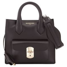 Balenciaga Padlock Mini All Crossbody Bag (51,860 THB) ❤ liked on Polyvore