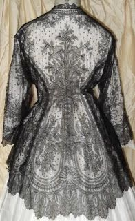 1860's Chantilly Lace Jacket - back