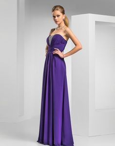 Sheath/Column Sweetheart Floor-length Chiffon Evening #Dress #00403394 #formal