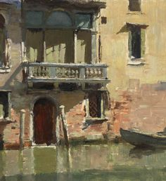 Edward Seago : The Little Palazzo, Venice . Post-impressionism // Edward Brian (Ted) Seago RBA ARWS RWS ) English artist who painted in both oils and watercolours. Urban Landscape, Landscape Art, Landscape Paintings, Landscapes, Venice Painting, Painting Art, Building Painting, Art Watercolor, Mary Cassatt