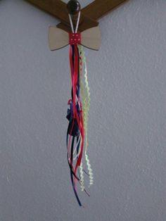 Μπομπονιέρα βάπτισης ξύλινο παπιγιόν. Wedding ideas bow tie