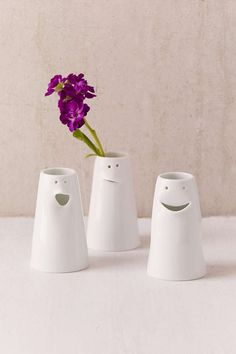 Spin Ceramics Mini Face Vase Set -#gifts /