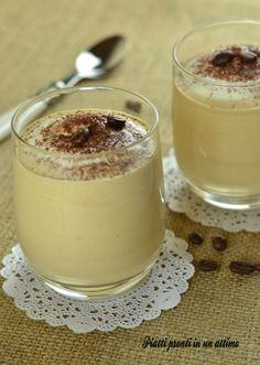 Crema fredda al caffè e panna