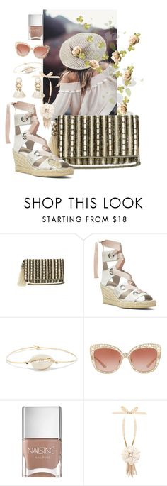 """""""Cream"""" by amanda-savage ❤ liked on Polyvore featuring Donald J Pliner, Pascale Monvoisin, Dolce&Gabbana, Nails Inc., Lanvin and Violeta by Mango"""