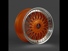 Axe EX10 Orange Polished Dish Alloy Wheels
