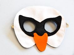 Swan Children Mask, White Bird Kids Carnival Mask Dress up Costume Accessory, Pretend Play Toy for Girls Boys, Toddlers