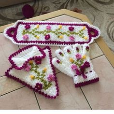 This Pin was discovered by Ayş Crochet Girls Dress Pattern, Crochet Patterns, Crochet Dish Towels, Crochet Kitchen, Crochet Purses, Hot Pads, Baby Booties, Crochet Baby, Pot Holders