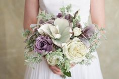 Lavender Lilac and Light Green Mint Wedding Lilac by PetalAndTwine
