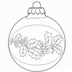 Ball Christmas Ornament Christmas Coloring Page - would work great for a paint pattern or for embroidery