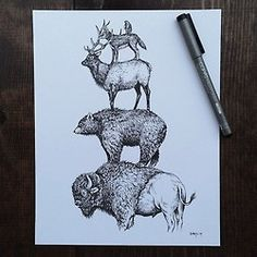this could be an awesome tattoo!!! #bison #copicart Steel Bison Tumblr