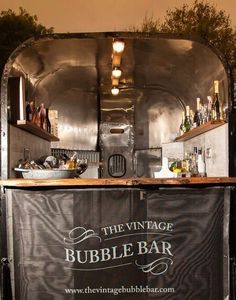 The vintage bubble bar was created by tastefully converting a traditional 20 year old horse trailer . Vodka Bar, Gin Bar, Horse Box Conversion, Prosecco Van, Glamping, Bar Hire, Portable Bar, Mobile Business, Champagne Bar