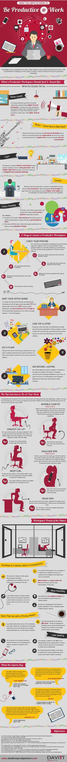 Infographic - What You Need to Know to Be Productive at Work