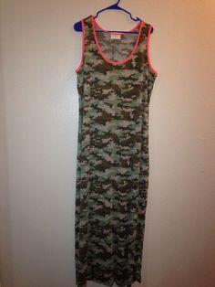 dddf125d35586 NWOT Ladies Plus Size BOBBIE BROOKS Camouflage Sleeveless Maxi Dress Size  1X #BobbieBrooks #MaxiDress