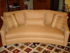 dining rooms with curved sofas   shown sandy condo size curved sofa this sofa comes standard with two ...