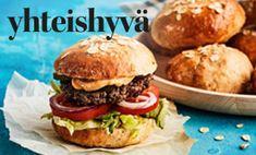 Hamburger, Bread, Chicken, Ethnic Recipes, Food, Brot, Essen, Baking, Burgers