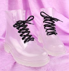 transparent boots! very trendy!!! Not sure Id wear them though