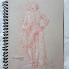 Let me post some beautiful back views: 1. Lansdowne Hermes @thegetty on a visit from Santa Barbara museum of art. ................. General's sanguine pencil on Strathmore toned tan paper #ancientart #redchalk #sanguinedrawing #sanguine #generalpencil #sculpture #sculpturedrawing  #ancientgreek #romanart #classicalart #figurative #figurativeart  #figuredrawing #lifedrawing #thegetty #drawing #nude #interiordecor #interiordesign #sketchbook #art #drawanyway  #обнаженка #nudeman #malenudeart…